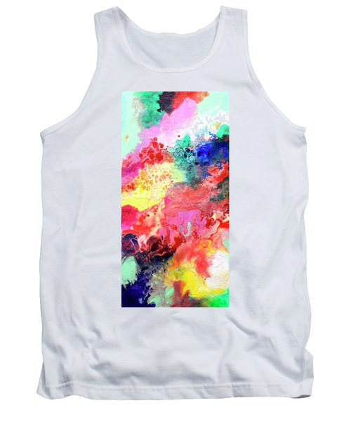 Subtle Vibrations, Canvas Four Of Five Tank Top