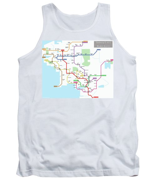 Subway Lines Of Middle Earth Tank Top