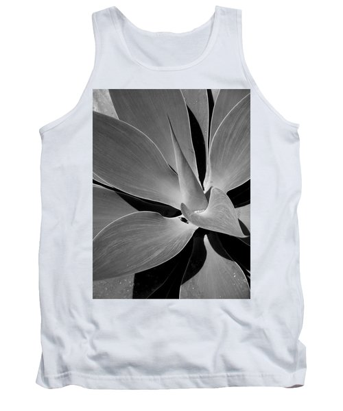 Succulent In Black And White Tank Top by Karen Nicholson