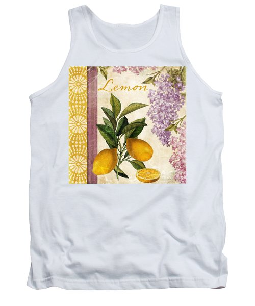 Summer Citrus Lemon Tank Top by Mindy Sommers