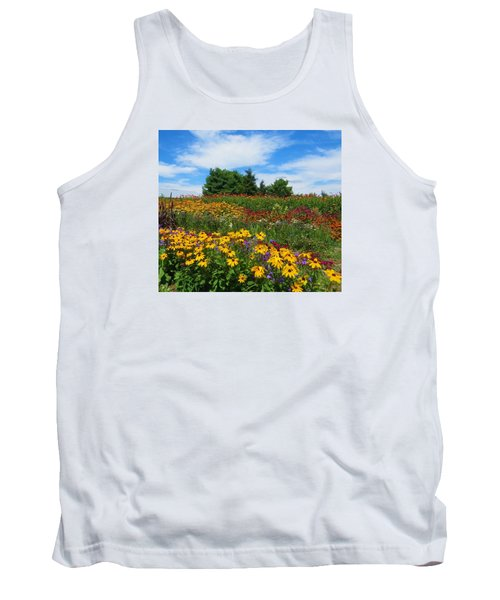 Tank Top featuring the photograph Summer Flowers In Pa by Jeanette Oberholtzer