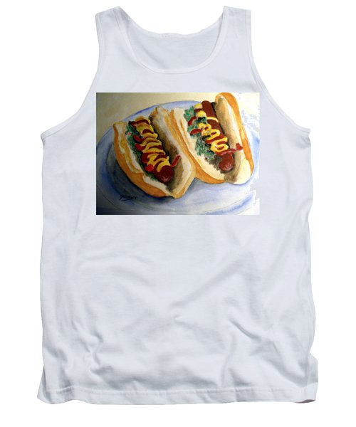 Summer Hot Dogs Tank Top