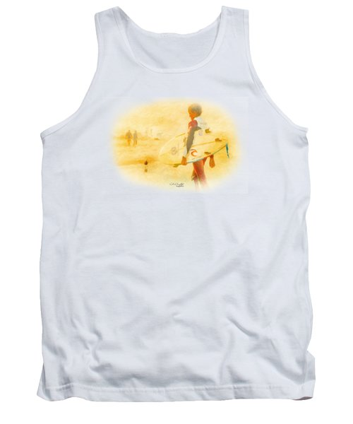 Tank Top featuring the painting Summer II by Chris Armytage