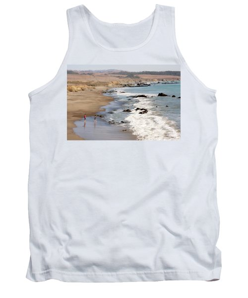 Tank Top featuring the photograph Summer In San Simeon by Art Block Collections