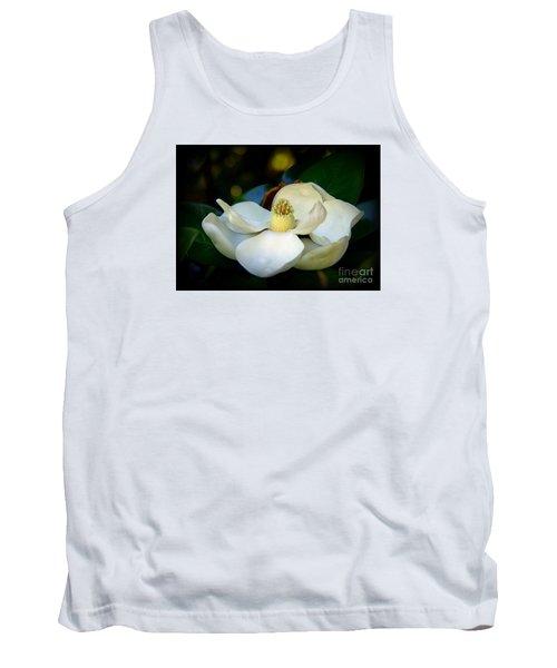 Summer Magnolia Tank Top by Lisa L Silva