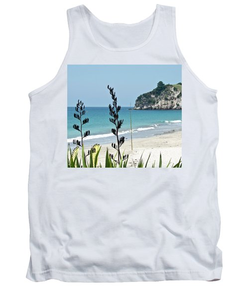 Tank Top featuring the photograph Summer New Zealand Beach by Yurix Sardinelly