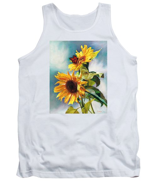Tank Top featuring the painting Summer by Svitozar Nenyuk