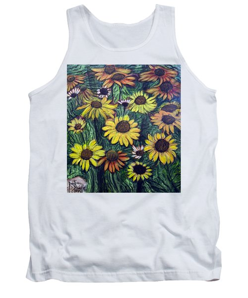 Summertime Flowers Tank Top by Ron Richard Baviello