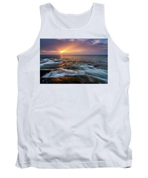 Sun Beams Halibut Pt. Rockport Ma. Tank Top by Michael Hubley