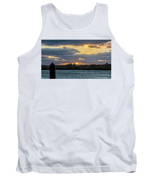 Sun Rays Over The Intracoastal  Tank Top by Nance Larson