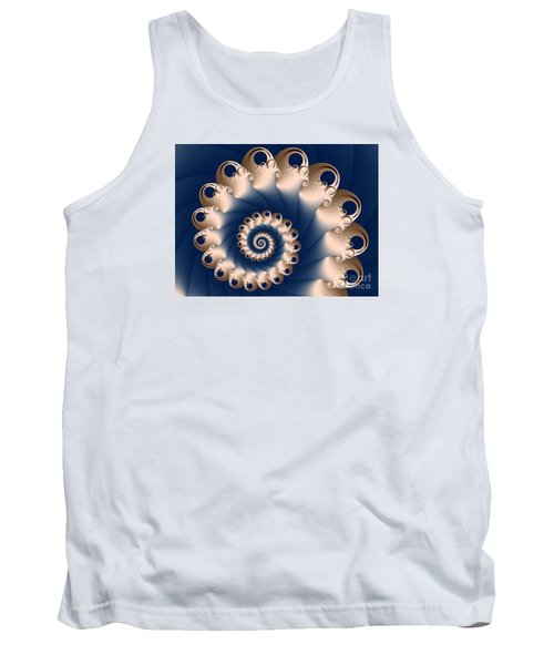Tank Top featuring the digital art Sunday Spiral by Karin Kuhlmann