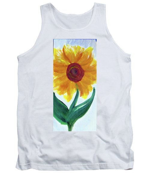 Tank Top featuring the painting Sunflower 89 by Loretta Nash