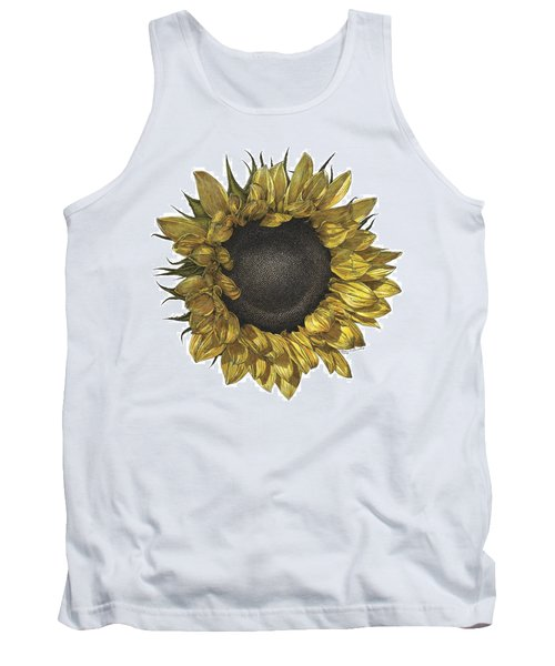 Sunflower Drawing In Color Tank Top
