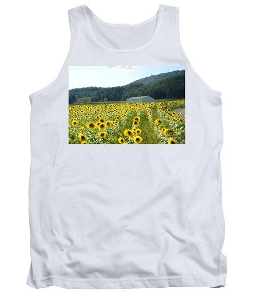 Sunflower Field Tank Top by Annlynn Ward