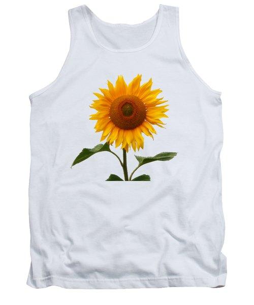 Sunflower On White Tank Top