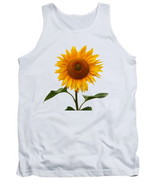 Sunflower On White Tank Top