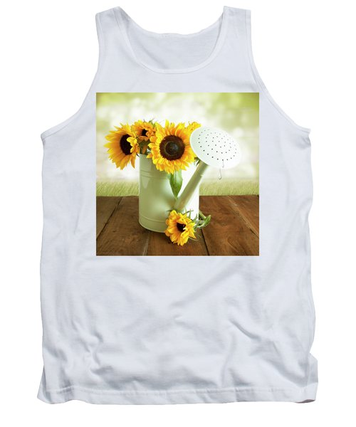 Sunflowers In An Old Watering Can Tank Top
