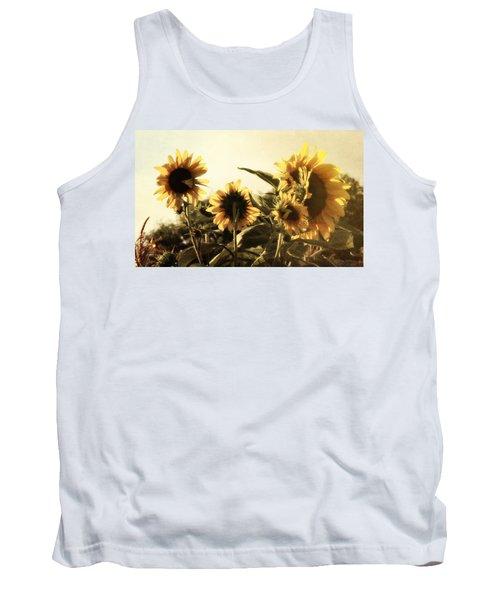 Sunflowers In Tone Tank Top