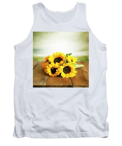 Sunflowers On A Table Tank Top