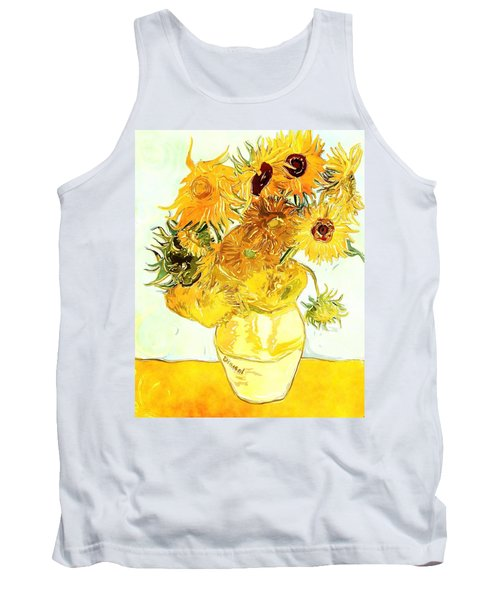 Sunflowers Van Gogh Tank Top