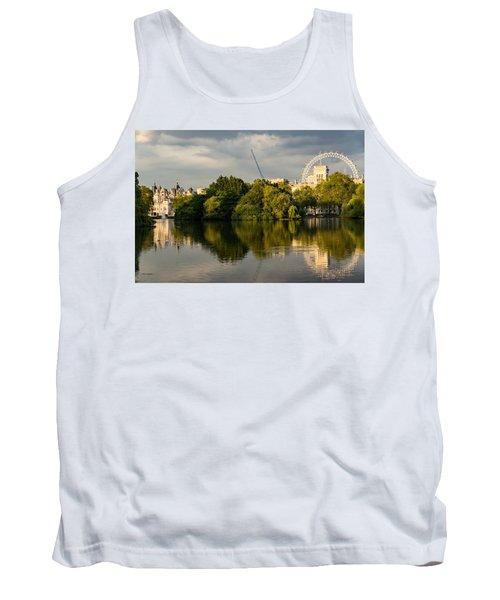 Sunlit Landmarks - St James Park Lake Reflections In London Uk Tank Top