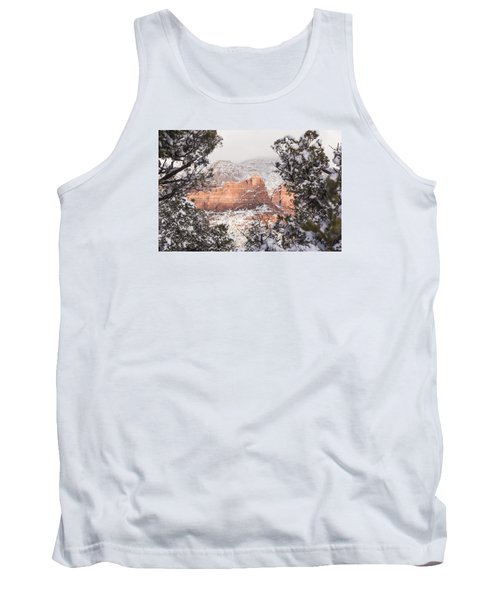 Tank Top featuring the photograph Sunlit Red by Laura Pratt