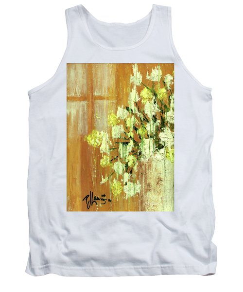 Sunny Flowers Tank Top by P J Lewis