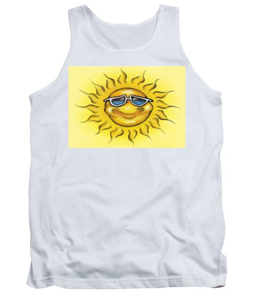 Tank Top featuring the painting Sunny by Kevin Middleton