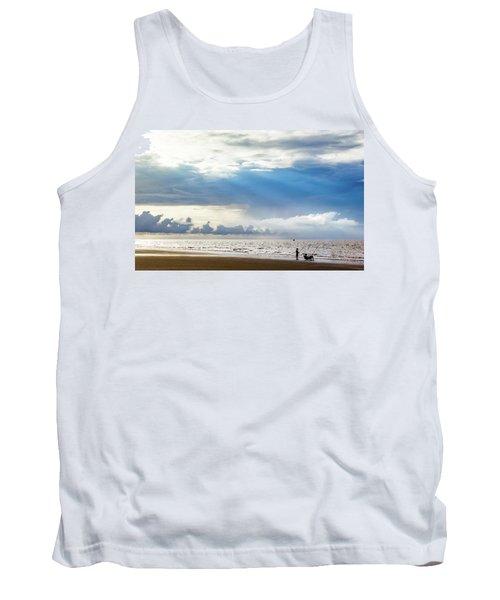 Sunrise Beach Fishing Tank Top
