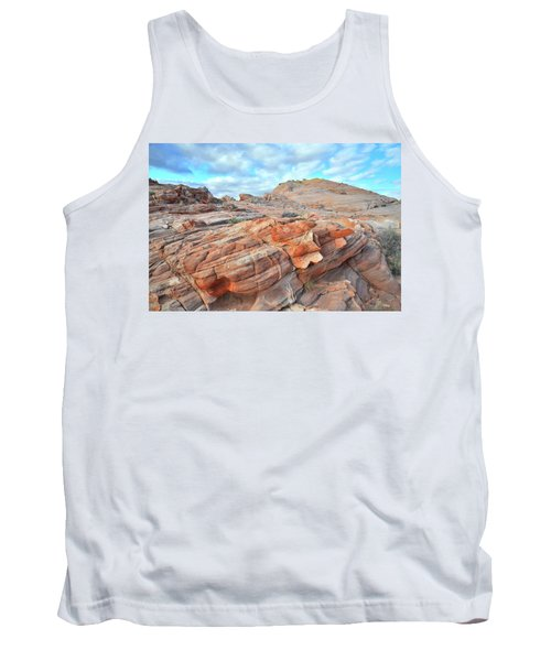 Sunrise On Sandstone In Valley Of Fire Tank Top by Ray Mathis