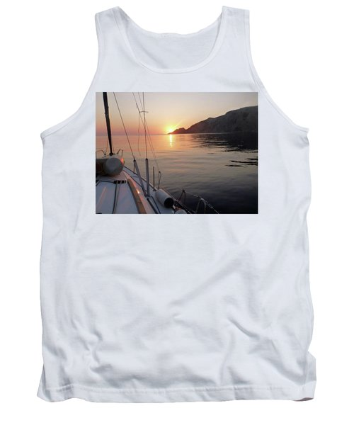 Sunrise On The Aegean Tank Top by Christin Brodie