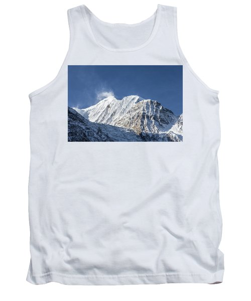 Sunrise Over The Gangapurna Peak At 7545m In The Himalayas In Ne Tank Top