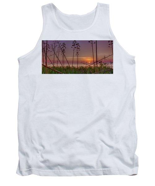 Sunrise Palm Blooms Tank Top