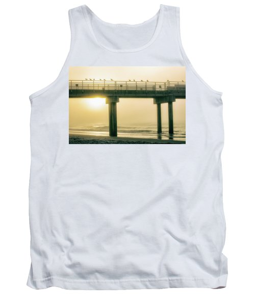 Tank Top featuring the photograph Sunrise Pier In Alabama  by John McGraw