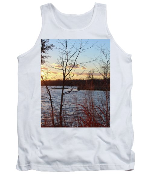 Sunset On The River Tank Top