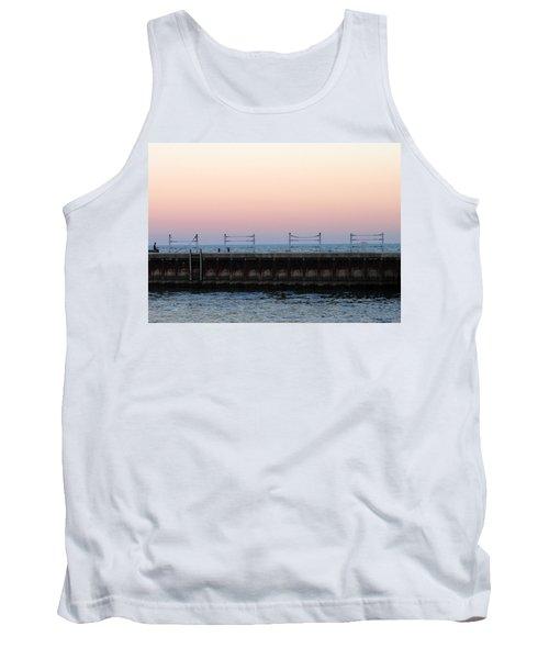Sunset At Diversey Harbor Tank Top