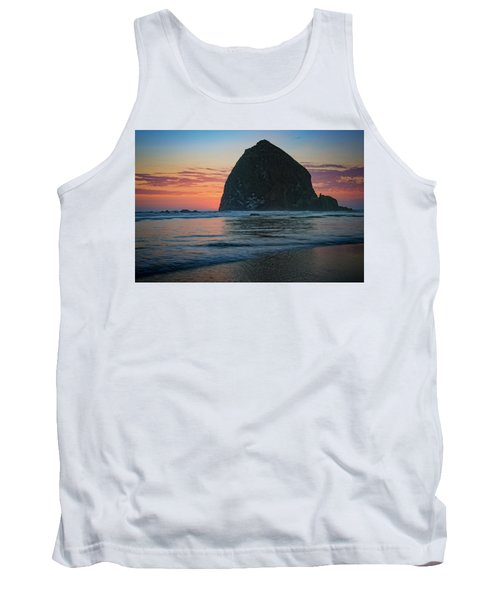 Tank Top featuring the photograph Sunset At Haystack Rock by Rick Berk
