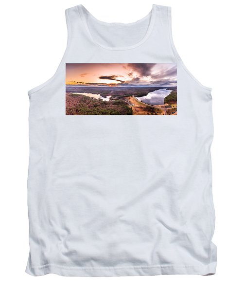 Sunset At Saville Dam - Barkhamsted Reservoir Connecticut Tank Top by Petr Hejl