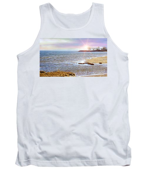 Sunset At The Beach - Tod's Point Tank Top