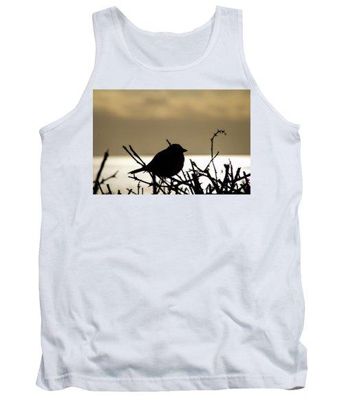 Sunset Bird Silhouette Tank Top