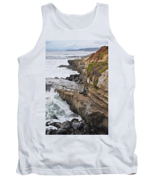 Tank Top featuring the photograph Sunset Cliffs San Diego Portrait by Kyle Hanson