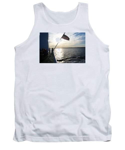 Tank Top featuring the photograph Sunset Cruise by Margie Avellino