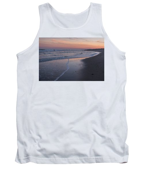 Tank Top featuring the photograph Sunset Fishing Seaside Park Nj by Terry DeLuco