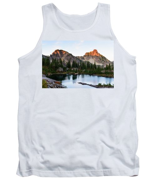 Sunset In Lila Lakes And High Box Mountain Tank Top