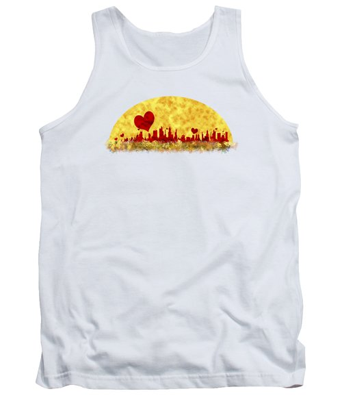 Sunset In The City Of Love Tank Top