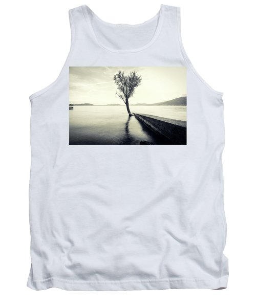 Sunset Landscape With A Tree In The Background Immersed In The L Tank Top