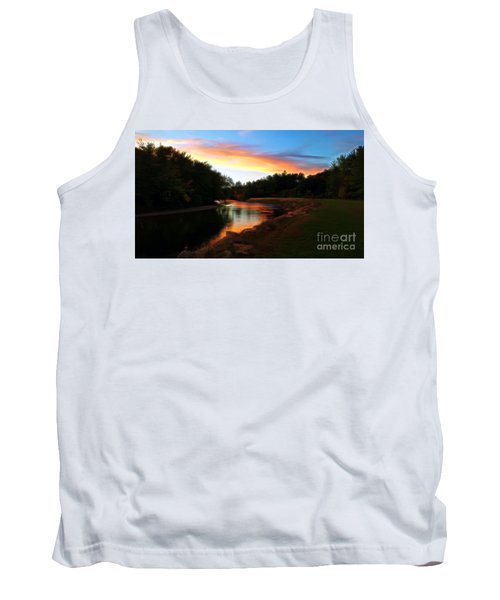 Sunset On Saco River Tank Top