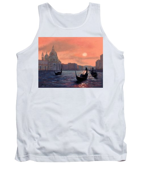Sunset On The Grand Canal In Venice Tank Top by Janet King