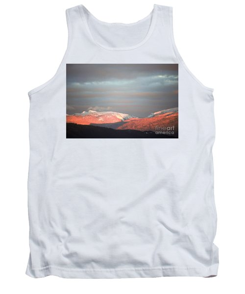 Tank Top featuring the photograph Sunset On The Monashees by Victor K