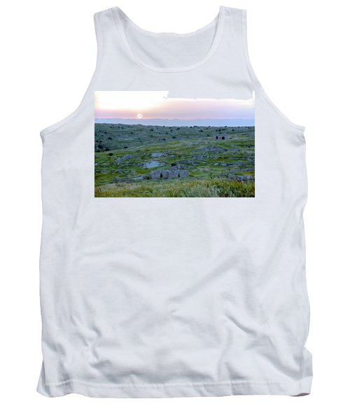 Sunset Over A 2000 Years Old Village Tank Top by Dubi Roman